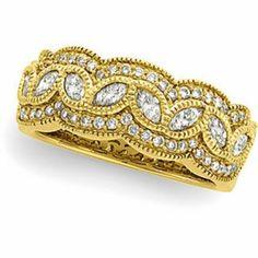 DIAMOND ANNIVERSARY BAND = 1 CARAT! 14K GOLD