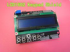 Yeni 1 adet LCD Keypad Shield LCD1602 LCD 1602 Modül Ekran Ardu ATMEGA328 ATMEGA2560 ahududu pi UNO mavi ekran Için