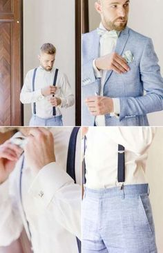 marryMAG: Romantische Hochzeit in der Villa Bridler Winterthur – Groom Suit, Dress and Accessories – Baby Shop Beach Wedding Groom Attire, Blue Suit Wedding, Wedding Men, Wedding Styles, Summer Wedding Suits, Wedding Ideas, Summer Groom Suit, Vintage Wedding Suits, Beach Groom