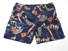 Tommy Bahama Mens XL Hula Girls Swim Trunks Bathing Suit Shorts Mesh Lined Blue #TommyBahama #Trunks