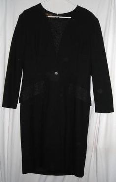 """$21.00 Beautiful Black Dress by Gillian Fits up to 42""""Bust Size 14 Free Shipping"""