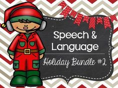Speech and Language Holiday Bundle! This bundle includes 13 products that target a huge variety of skills!