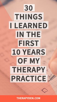 30+ things I've learned after running a therapy practice for 10 years. 2. It's almost impossible to cover up a yawn