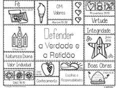 As Tontas Vão Ao Céu: Cartaz para Colorir - Lema e Valores das Moças (po...