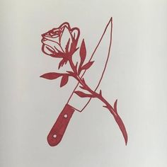 Image result for knife and rose tattoo