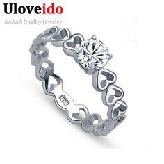 Find More Rings Information about 50% off Heart Wedding Rings for Women 925 Sterling Silver Quality Simulated Diamond Ring Love Jewelry Wholesale Ulove J391,High Quality jewelry classifieds,China jewelry bride Suppliers, Cheap jewelry bling from ULOVE Fashion Jewelry on Aliexpress.com