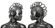 Chicago Based photographer Shani Crow pays homage to black hairstyles in new braids exhibit giving black women credit where credit is due. African Threading, Hair Threading, African Braids Hairstyles, Braided Hairstyles, Dope Hairstyles, Medium Hair Styles, Natural Hair Styles, Hair Afro, Bob Braids