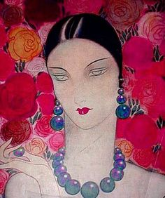 George Barbier (1882-1932) - French Art Deco Fashion Illustrator - Cosmopolitan Magazine, 1929
