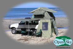 tent attached to vehicle | The Teardrop, The Attached, And Other Camping Alternatives. Now this is nice if camping directly on the ground is a bad idea ie snakes and bugs
