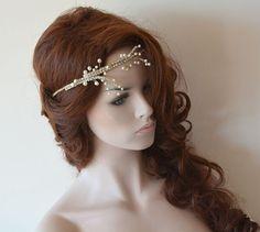 A personal favorite from my Etsy shop https://www.etsy.com/listing/232281071/wedding-headband-pearl-headband-hair