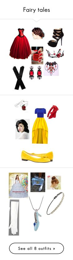 """Fairy tales"" by chelsea-white8 ❤ liked on Polyvore featuring Charlotte Russe, Dents, NYX, Once Upon a Time, Forever 21, Katie Ermilio, Forever New, Pin Show, Alexander Wang and Disney"