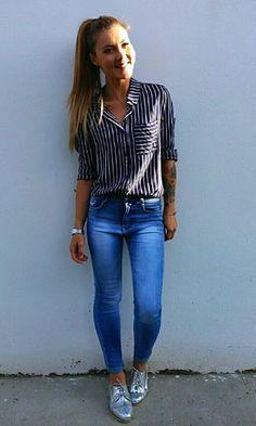 Look: Camisa Listra + Oxford Prateado