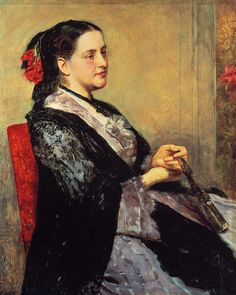 Portrait of a Lady of Seville,  Mary Cassatt - 1873