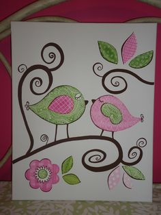 Canvas I (Melanie Hutchison) painted for a little girls room.