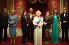 With the Royal Family and Werka - Madame Tussauds London 2015
