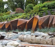 Landscape architect Paul Sangha has created METAMORPHOUS, a corten steel sculpture designed to provide a solution to foreshore erosion for a waterfront property in Vancouver, Canada. -The LA Team