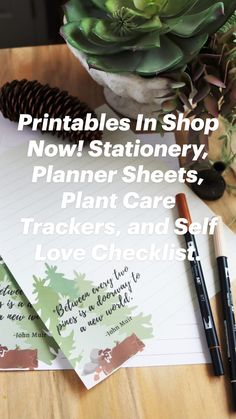 Snail Mail Pen Pals, I Shop, Shop Now, Planner Sheets, Plant Care, Self Love, Stationery, Printables, Etsy Shop