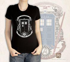 crest of the knight of fandom tank top / t-shirt  Supernatural , Doctor Who, Sherlock, Avengers, Potter, Star Trek, Merlin, Hobbit