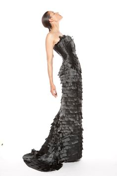 Evening gown from satin ribbons Satin Ribbons, Evening Gowns, Opera, Gloves, Fall Winter, Glamour, Evening Gowns Dresses, Formal Evening Dresses, Opera House