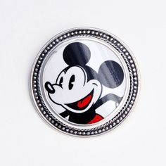 Broken China Jewelry Mickey Mouse Sterling Pin/Brooch on Etsy, $128.00