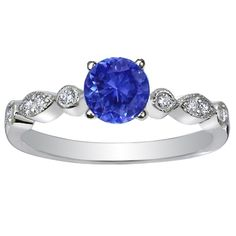 Look what I found on @eBay! 14K WHITE GOLD DIAMOND-SAPPHIRE WEDDING SET http://r.ebay.com/Eaqqwg
