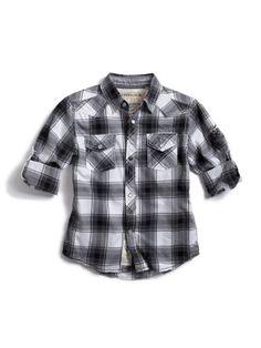 GUESS Kids Boys Dakota Long-Sleeve Shirt « Clothing Impulse
