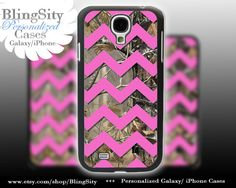 Camo Pink Chevron Galaxy S4 case S5 Real Tree Camo Deer Personalized RealTree Samsung Galaxy S3 Case Note 2 3 Cover by BlingSity