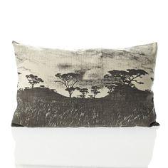 Karoo Veld Cushion Cover : Charcoal