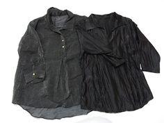 Camisas pretas com detalhes metalizados. Super em alta.