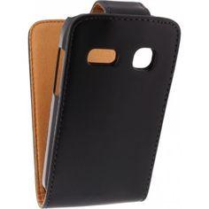 Xccess Leather Flip Case / Hoesje Alcatel One Touch Pop C3 Black