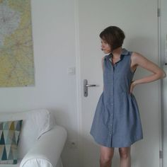 Moun // Alder Shirtdress de Grainline Studio // Tissu Chambray Raw Dots Denim Les Trouvailles d'Amandine