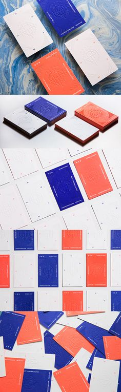 Bold Colours Contrasted With Textured White On A Letterpress Business Card
