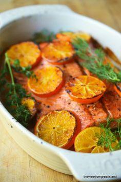 Vodka and Clementine Glazed Salmon #recipe