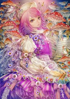 in this anime wallpaper, we see the beautiful letty whiterock. She is a cute anime girl from the touhou game. Touhou Anime, Manga Anime, Sisters Art, Cute Anime Character, Character Ideas, Character Concept, Character Design, Mushroom Art, Art Folder