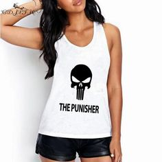 White Tank Tops With Many Different Cat Prints