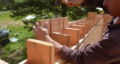 Life-Sized Lincoln Logs: Wooden Bricks Make Building a House Crazy Easy Lincoln Logs, Make Build, San Ramon, Tiny House Listings, Geodesic Dome, Lego House, Tiny Houses For Sale, Wooden House, Miniature Houses