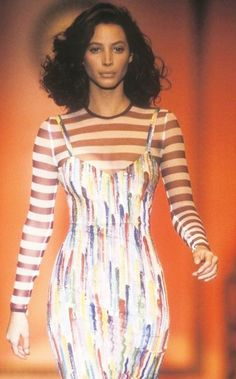 Christy Turlington for Gianni Versace, Spring-Summer 1993, Couture