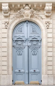 Blue Doors In Paris Photograph