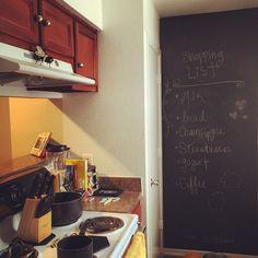 Chalkboard in the kitchen.