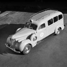General District Ambulance for AWA radios. Max Dupain photo, c 1950.
