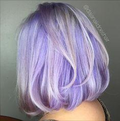 Silver Purple Hair, Periwinkle Hair, Pastel Purple Hair, Lavender Hair Colors, Light Purple Hair, Hair Color Purple, Silver Lavender Hair, Short Purple Hair, Silver Blonde