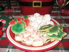 Christmas Cookies  Sugar Cookie Cut Outs, Russian Teacakes and Peppermint Dreams