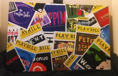 Broadway Playbills Painting on Etsy, $90.00