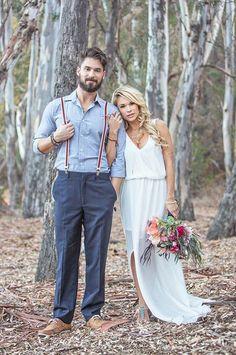 80 Awesome Groom Looks With Suspenders | HappyWedd.com #PinoftheDay #awesome…