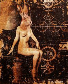 ORIGINAL art on CORK Bestialities The Leveret Medium by FnVegas