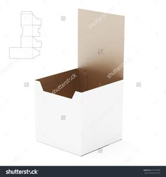 Tall Counter Display Box With Die Line Template Stock Photo 327419639 : Shutterstock