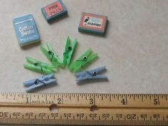 Estate Dollhouse Lot Clothespin Diapers Cotton Swabs Mini Barbie Tammy Cissette  #Unbranded