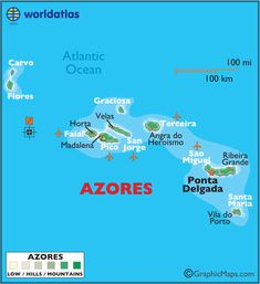Azores (Região Autónoma dos Açores) is one of the two autonomous regions of Portugal, composed of nine volcanic islands situated in the North Atlantic Ocean about 1,360 km (850 mi) west of continental Portugal.