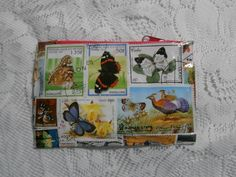 Postage Stamp Purse  Butterflies by StrangelyMagical on Etsy