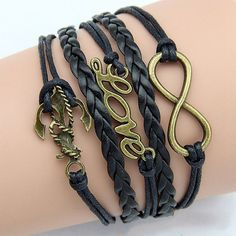 Infinite Love with Chain Anchor Charm Bracelet Style 48 by ATHiNGZ, $3.99